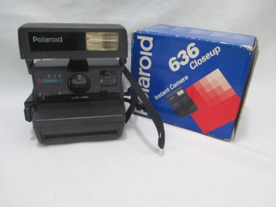 Antiga Camera Polaroid 636 Closeup Com Caixa Cam 2