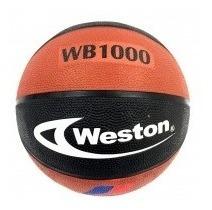 Balón De Baloncesto Weston Wb1000 N° 7 Negro/marrón