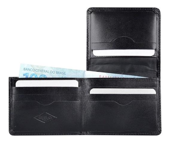 Carteira Masculina Couro Legítimo Porta Cnh Cartões Mini 59