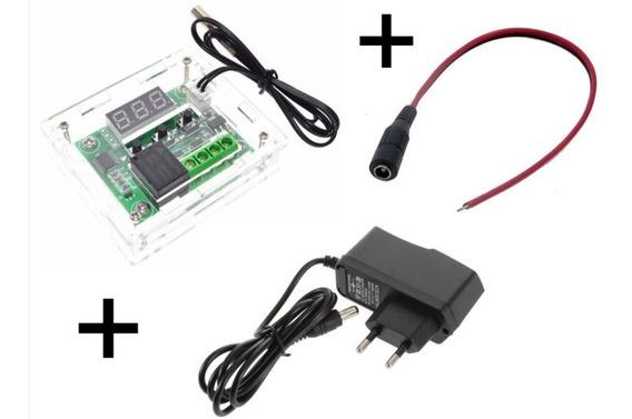 Termostato Controle W1209 Chocadeira + Case + Fonte 12v + Ra