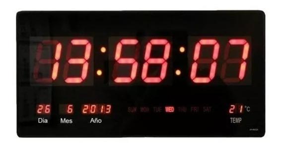 Reloj Digital Pared Led Fecha Temp. Grande / Envío Gratis!