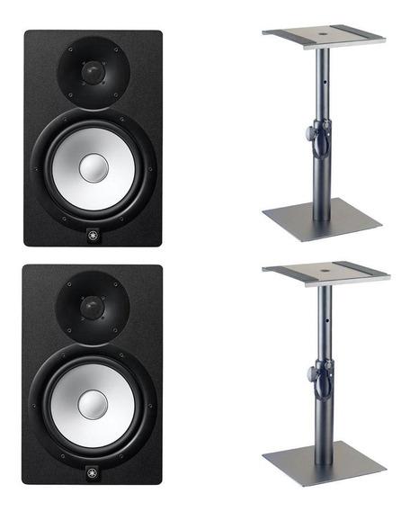 Monitor De Referência Yamaha Hs8 Par + Suporte Mesa Stagg