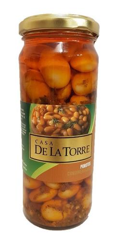 Porotos Condimentados En Aceite De La Torre Frasco 300 Grs