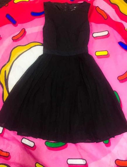 Vestido Negro Kawaii H&m Usado Líquido!