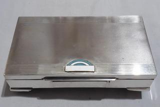 Antig Caja P/ Cigarros Tabaco Cigarrera Art Deco Plata 925