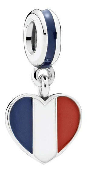 Pandora Charm Francia Bandera Amo Francia