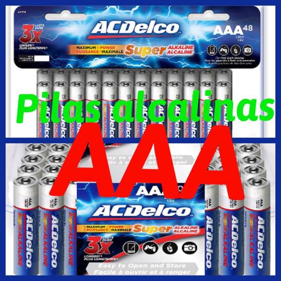 Pilas Alcalinas Aa Y Aaa Acdelco Super Mayor Y Detal