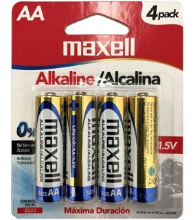 Pilas Aa Alcalinas Maxell X 4