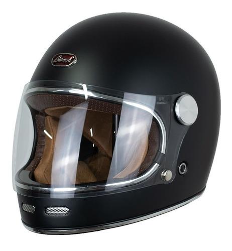 Casco Retro Para Moto Beon B-510 Barock Negro Mate