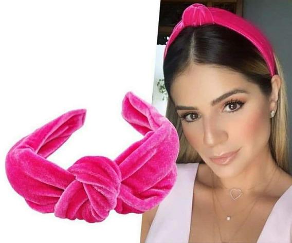 Kit Atacado 10 Tiara Turbante Veludo Nó Blogueira Promoção