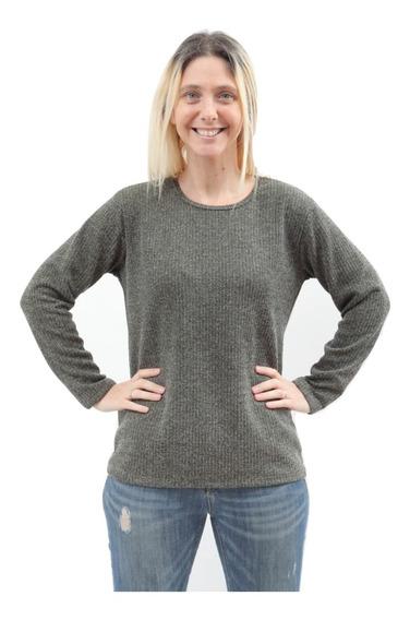 Sweater De Dama Manga Larga Lanilla C/ Brillo Art 3117 Local