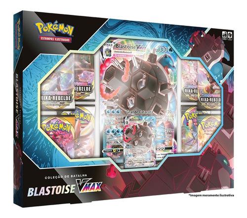 Card Game Pokémon Tcg Box Lacrada Blastoise Vmax Copag