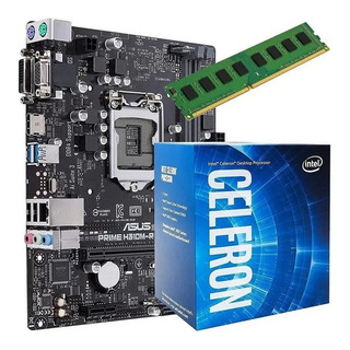 Combo Pc Intel Celeron G4930 + H310m + Ddr4 4gb - Simmcye