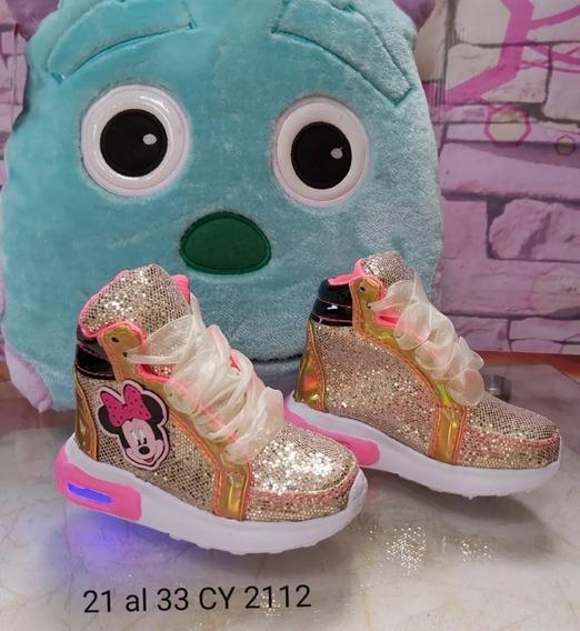 Zapatos Boticas Para Niñas Con Luces Moda Colombiana