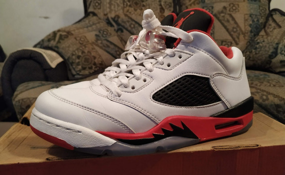 Jordan 5 Low Fire Red (2016) Talla 6mx Usados