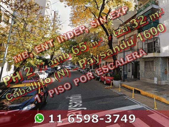 Venta Ph 3 Ambientes Escalera Villa Crespo Terraza 663