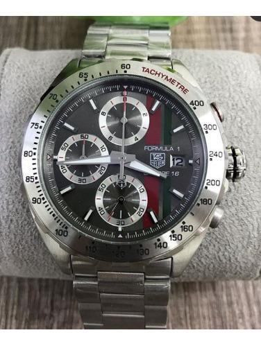 Relógio Masculino Tag F1 Mostrador Cinza