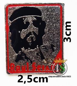 Pin Botton Broche Metal Rock Raul Seixas + Frete Barato