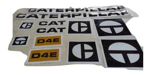 Kit Faixa Adesivos Trator Esteira Caterpillar D4e