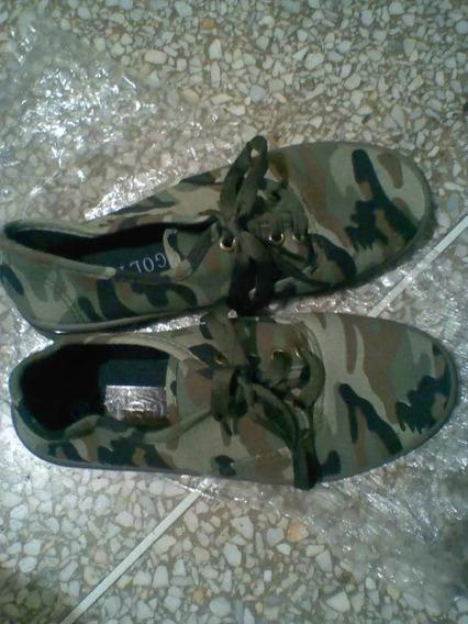 Zapatos Unisex Camuflajeado Talla 37