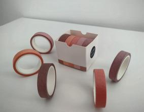 Kit 5 Washi Tape - Tons De Rosa
