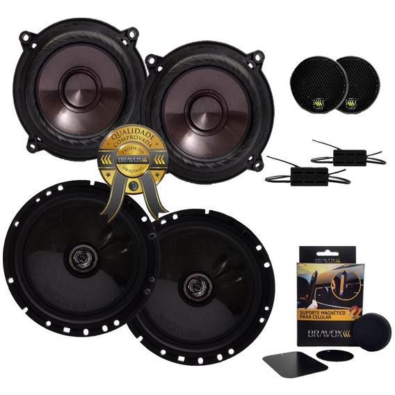 Kit Auto-falante Bravox Cs50p 5 + Cx60bk 6 240w Rms+brinde