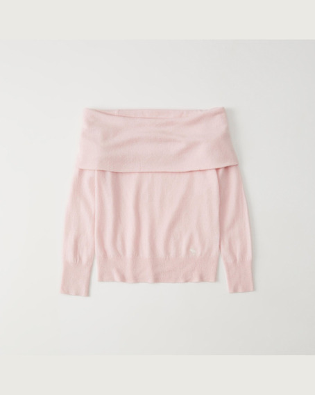 Suetér Cashmere Rosa Off The Shoulder Tam P Abercrombie