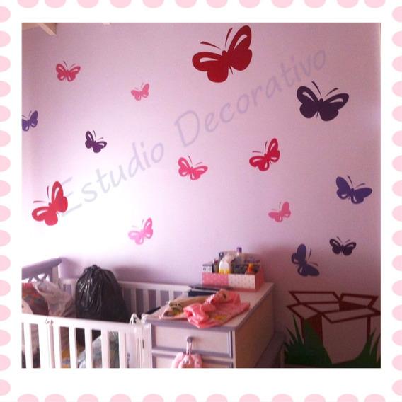 Vinilos Decorativos Infantiles - Caja Con 14 Mariposa