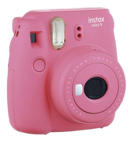 Kit Instax Mini 9 Camera + Bolsa + 10 Poses Flamingo