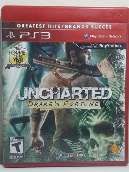 Jogo De Ps3 Uncharted 1 Midia Física.