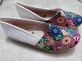Calzado Dama De Yute Floreado Fashion Casual Zapato