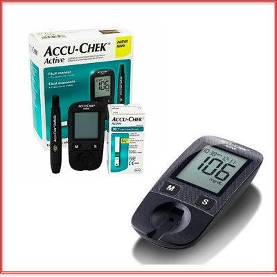 Kit Glucometro Accu Check Active 50 Tiras + 50 Lancetas