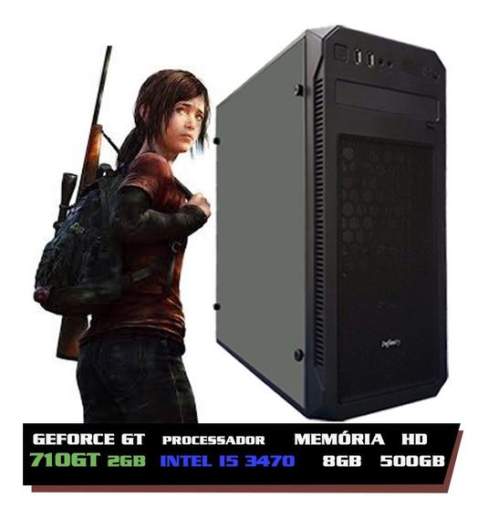 Pc Gamer I5 3470, Hd 500, 8gb, Geforce 2gb 710 Gt Promoção + Nfe