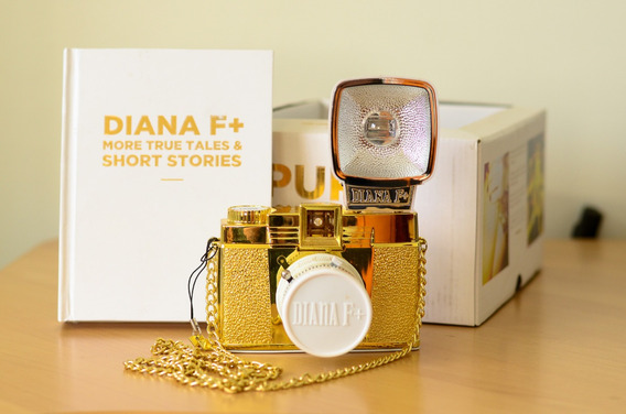 Câmera Analógica Diana F+ Pure Lomographic Gold