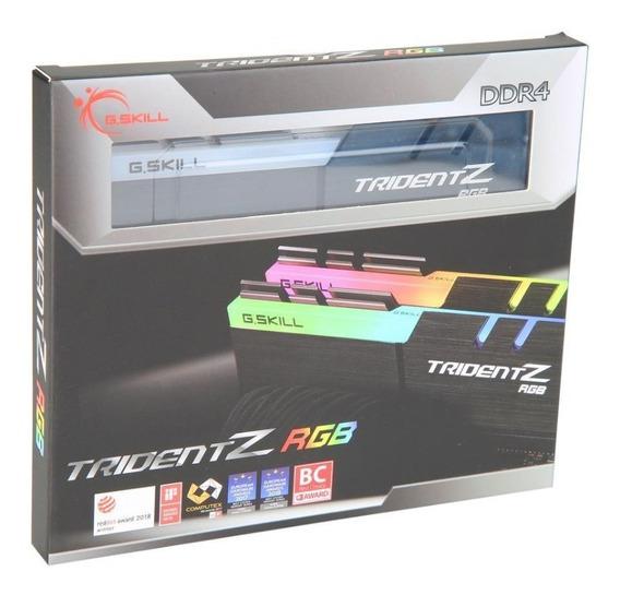 Kit (2) Memórias G.skill Tridentz Ddr4 Rgb 16gb(2x8) 3200mhz
