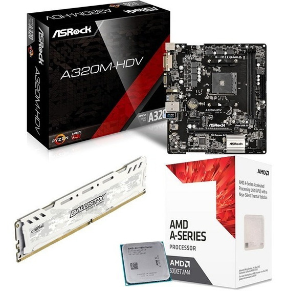 Combo Actualizacion Pc Gamer Amd A8 9600 X10 R7 4gb Ddr4