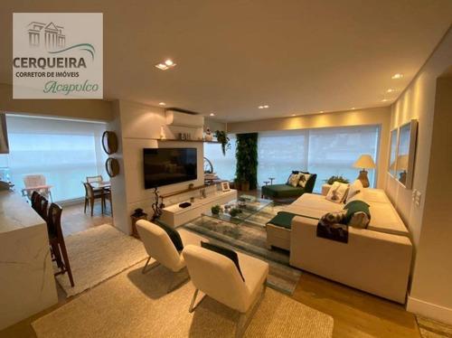 Apartamento À Venda, 145 M² Por R$ 2.300.000,00 - Jardim Belmar - Guarujá/sp - Ap0073