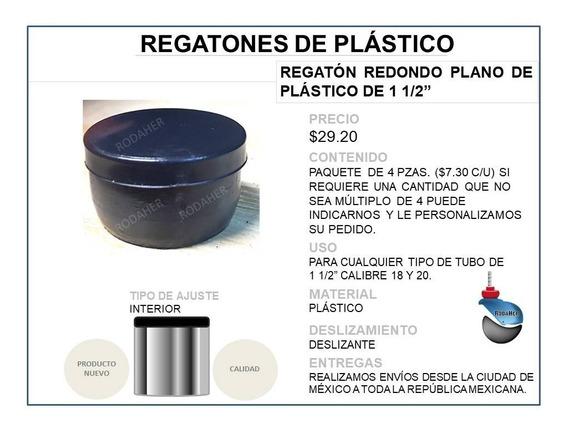 Regatón Tapón Redondo Plano De Plástico De 1 1/2 Paq. 4