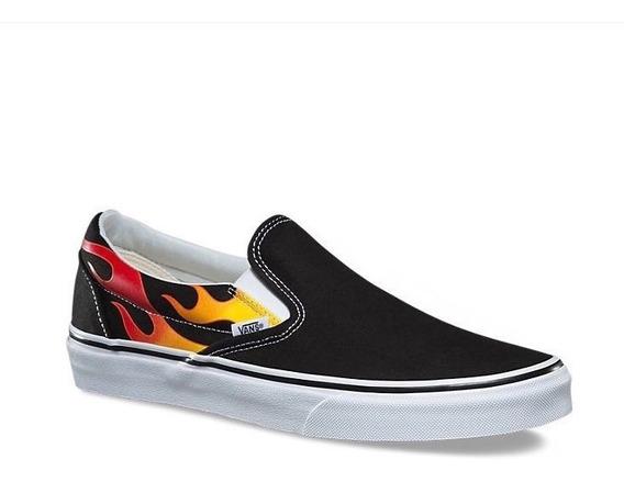 Tenis Vans Slip On Flame Skateboarding