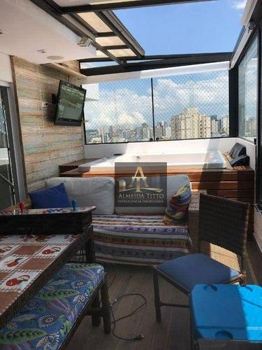 Imagem 1 de 27 de Belíssima Cobertura Duplex Á Venda No Centro De Osasco - Co0021