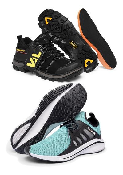 Kit Masculino Sapatênis Bota Coturno + Tênis Para Caminhada