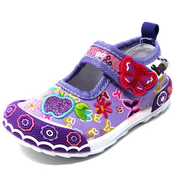 Zapatos Niñas Yoyo L3006 Púrpura 19-24. Envío Gratis