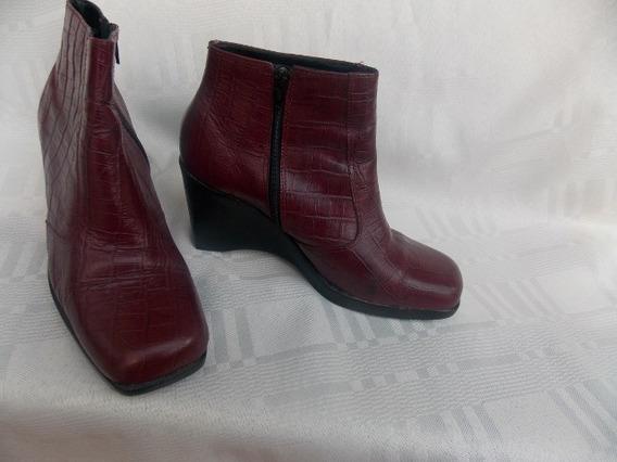 Lote Zapatos Mujer Altos Y Botas Cortas N°39