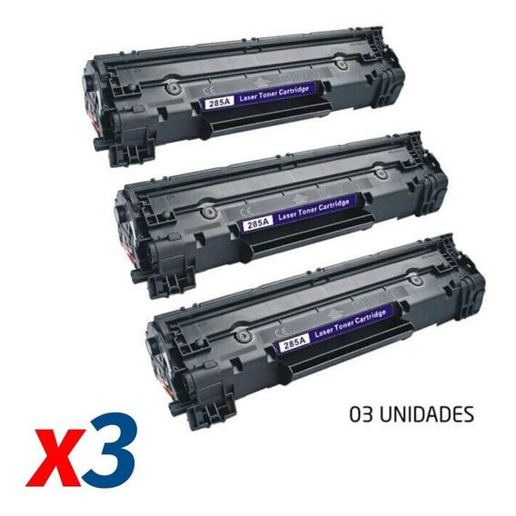 Kit 3x Toner Compatível Hp 85a Cb436a Ce285a Mytonner
