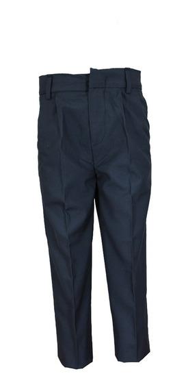Pantalón Para Niño Escolar Azul Marino Gris Blanco