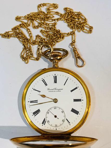 Relógio De Bolso Girard-perregaux Ouro 18k.