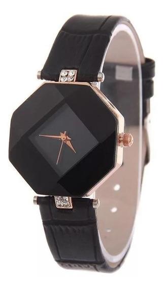 Kit 12 Relógio Quartzo Octagonal Feminino Lindo
