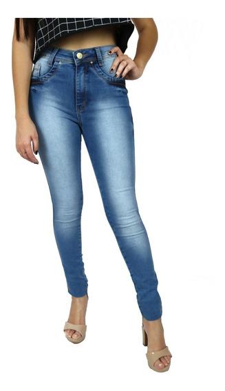 Calças Femininas Calça Jeans Femininas Cos Alto Lisa Rasgada