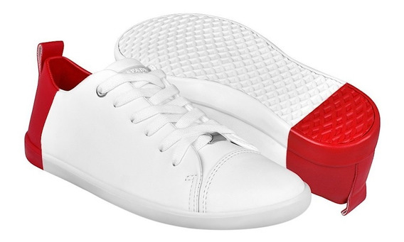 Tenis Casuales Para Dama Capa De Ozono 372911-10 Bco Rojo