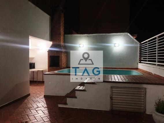 Cobertura Com 2 Dormitórios Para Alugar, 100 M² Por R$ 2.200/mês - Botafogo - Campinas/sp - Co0016